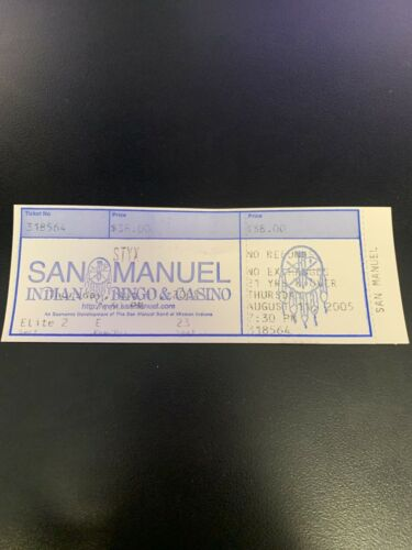 STYX at the San Manuel Amphitheatre 8/11/2005 Full Ticket