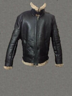Men Winter Aviator RAF B3 Real Shearling Sheepskin Leather Bomber Flying Jacket for sale  Calgary