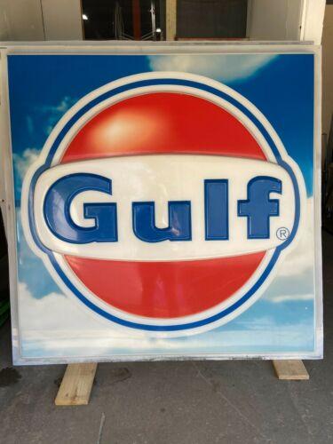 Vtg Gulf Gas Station Roadside Sign~Plastic 5
