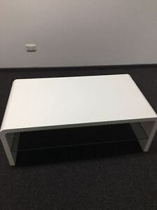 Tempered Glass Gloss Coffee Table (Brand New,Black/White) Clayton Monash Area Preview