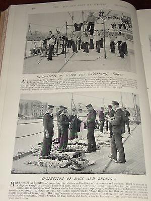 1896 Hms Howe Gymnastik auf Brett ~ Inspektion Bettwäsche Gymnastik Bettwäsche
