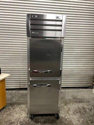 2 Split Half Door Refrigerator Freezer Reach In Stainless True Stg1dt-2hs 5263