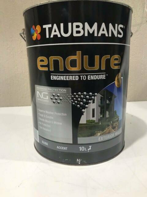 Taubmans Endure Exterior Walls Gloss Accent 10l Rrp 203