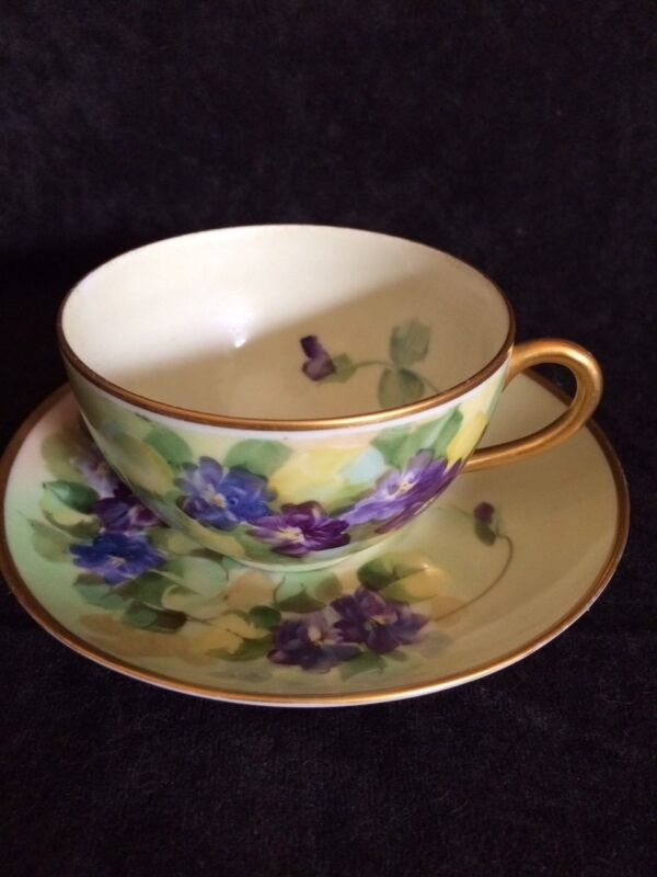 Pickard Hand Painted Cup & Saucer