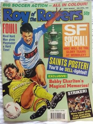 Roy of the Rovers Comic 20 04 1991 Exc Condition