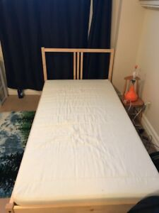 Single bed with a foam mattress. New condition
