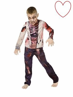Scary Zombie Boy Fancy Dress Outfit Costume Halloween Kids