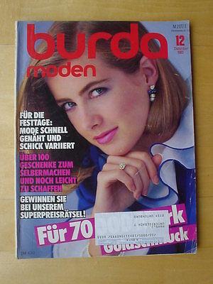 BURDA MODEN 1983/12 Weihnachten Homewear Abendkleider Teens Modezeitschrift 80er