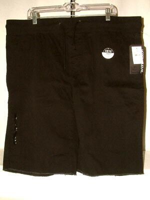 #4365 STRETCH WALKING SHORTS FROM MODERN CULTURE SZ XL BLACK ZIP LEG POCKET NWT