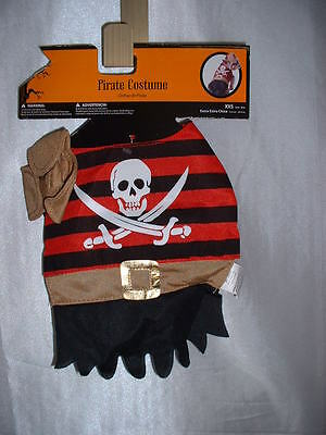 2 piece Dog Pet Pirate Halloween Costume XXS 6