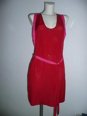 CNC Costume National Eyecatcher Dress Kleid in Rot m Details in Pink Gr 36-38