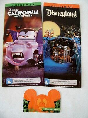 NEW RELEASE 2017 DISNEYLAND & CA ADVENTURE HALLOWEEN PARK MAPS *BONUS* GIFT CARD - Disneyland Halloween 2017