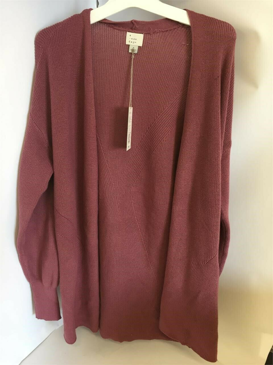 NWT A New Day Women's Size S Cardigan Long Sleeve Sweater Size Small Maroon