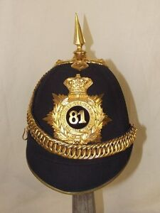 Victorian-81st-Loyal-Lincoln-Volunteers-Regiment-Officers-Black-Cloth-Helmet