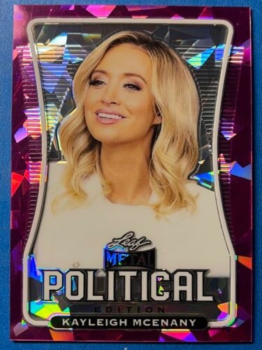 KAYLEIGH MCENANY  2020 LEAF POLITICAL PINK CRYSTAL ICE CARD  / 6
