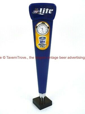 Rare 1990s MILLER LITE BEER Clock Watch Face Time 12¾ inch Tap Tavern Trove