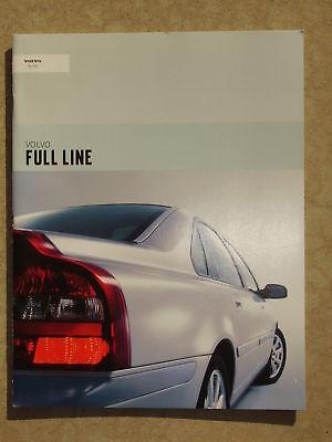 2002 VOLVO SALES BROCHURE S80 S60 S40 V70 V40 C70 COUPE