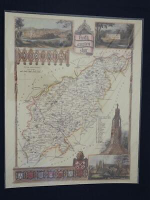 Reproduction Antique Map Northamptonshire 16 x 20 inches.