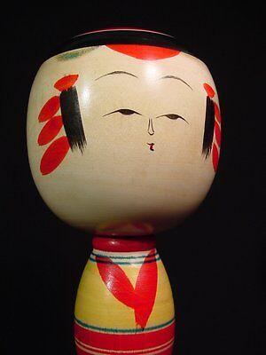 "Kokeshi Doll Mid Century Yajiro Traditional School Artist Signed 9.63"" Tall"