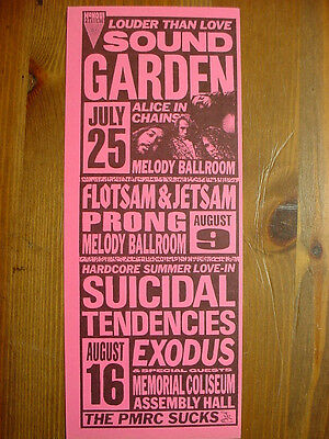 SOUNDGARDEN , ALICE IN CHAINS, SUICIDAL TENDENCIES, PRONG Multi Show Flyer MINT