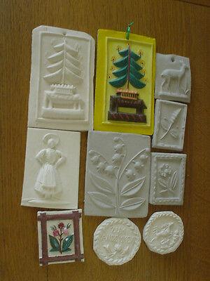 Springerles MODEL antik zum Selber-Bemalen FIMO 8x zu Weihnachten Geschenk Enkel