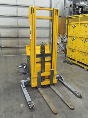 2500 Lb. Pallet Stacker Fork Lift Multiton Ejb 25-206 17 Lift Good Batteries