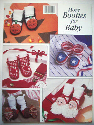 More Booties for Baby crochet pattern 9 designs Christmas Santa  - Baby Crafts For Halloween
