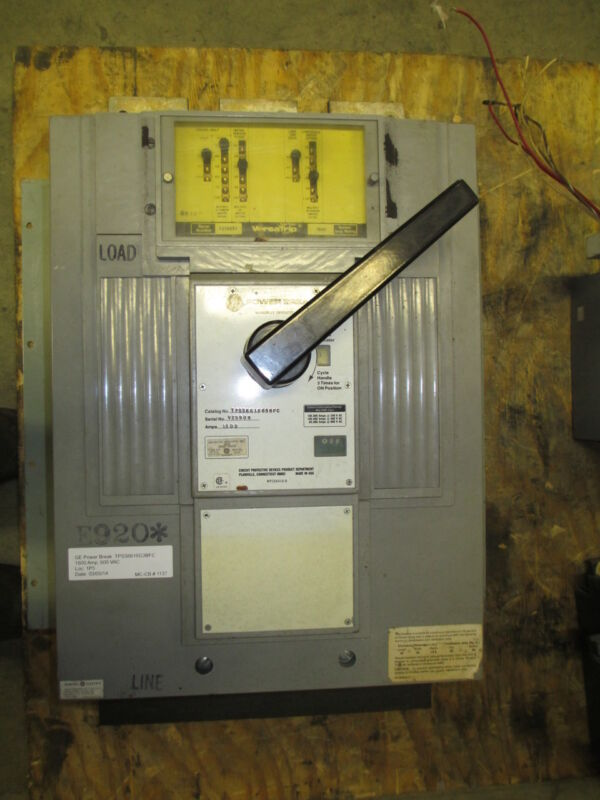 Ge Powerbreak Tpss6616g3bfc 1600a 3p 600v Mo/fm Circuit Breaker W/ Lig Used E-ok