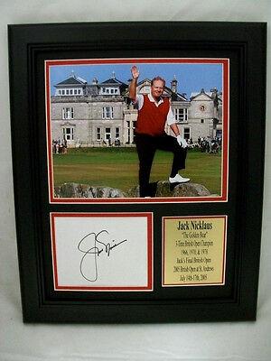 REPRINT JACK NICKLAUS AUTOGRAPHED REPRINT 8X10 PHOTO FRAMED LAST BRITISH OPEN