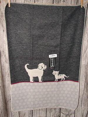 Fussenegger Haustierdecke*Hund&Katz*70x90cm*Katze*Kuschel-Decke*anthrazit*grau
