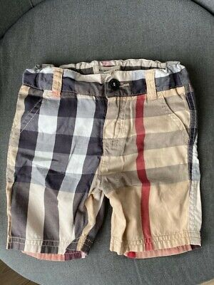 Genuine Burberry baby boys Beige Check Cotton Shorts (size 18 month) RRP  £95