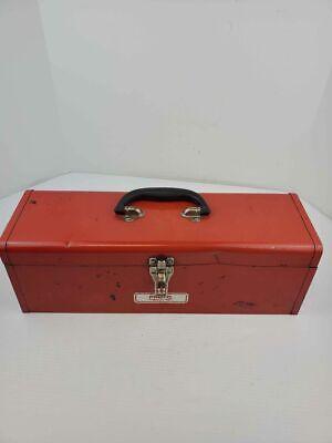 Vintage Proto Professional Tools Red Metal Tool Box With Black Metal Insert