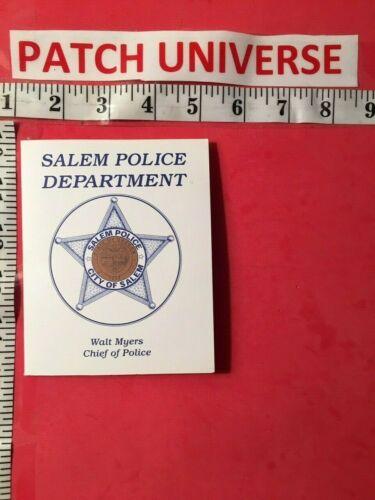 OFFICIAL BOOKLET  SALEM OREGON POLICE SHOULDER PATCH   T025
