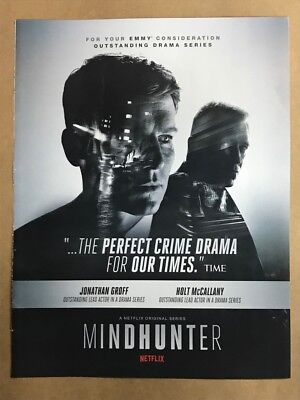 MINDHUNTER: Emmy Awards RARE advertisement ad FOR CONSIDERATION GROFF, McCALLANY
