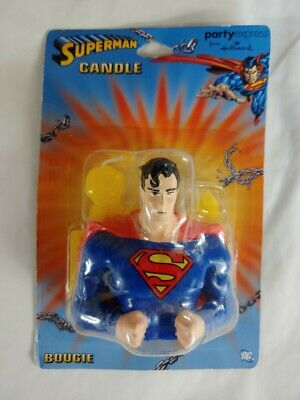 Superman Candle cake topper 2.5 inch Party Decoration  - Superman Party Decorations