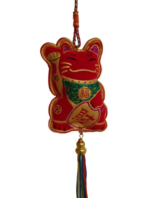 Feng Shui Chinese New Year Decoration Charm - Lucky Cat