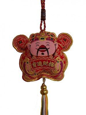 Feng Shui Chinese New Year Decoration Charm - Wealth God