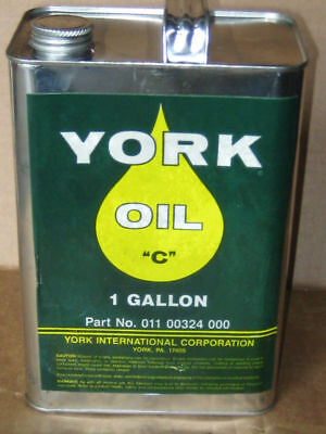 York C Chiller Compressor Mineral Oil 1 - Gallon Can New - Old Stock