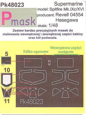 SPITFIRE MK 9 PAINTING MASK TO REVEL / HASEGAWA KIT 48023 1/48 PMASK