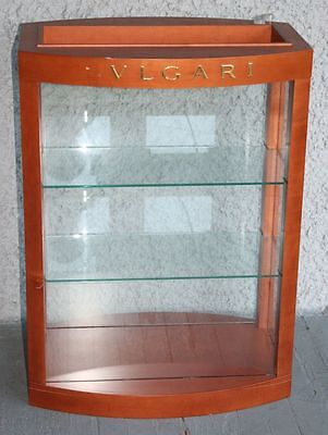Bulgari Eyeglasses Sunglasses Display Case. High Quality Wood Glass Shelves