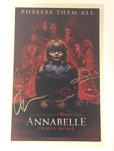 Annabelle Comes Home Cast Signed 11X17 Photo Gary Dauberman Patrick Wilson 1 COA