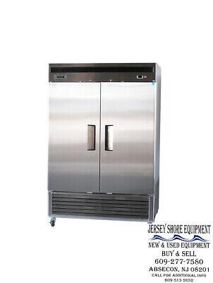 Bison Brr-46 2 Door Stainless Steel Reach In Refrigerator