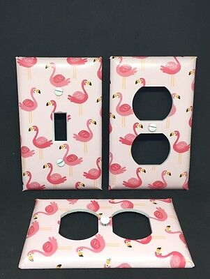Flamingo Switchplate - Flamingos Pink Light Switch Cover Plate Set of 3 Funny Birds Beach Island Decor