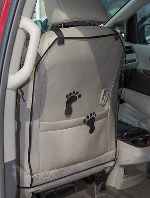 Car Seat Protector Kick Mats - 2 PACK - Protects Car Seats from Muddy Footprints