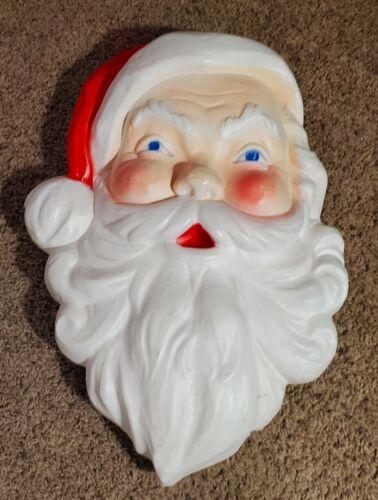 Vintage Christmas Blow Mold Santa Face-Large-Union