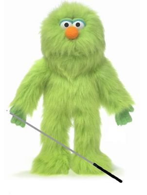 Silly Puppets Green Monster Glove Puppet Bundle 14 inch with Arm Rod