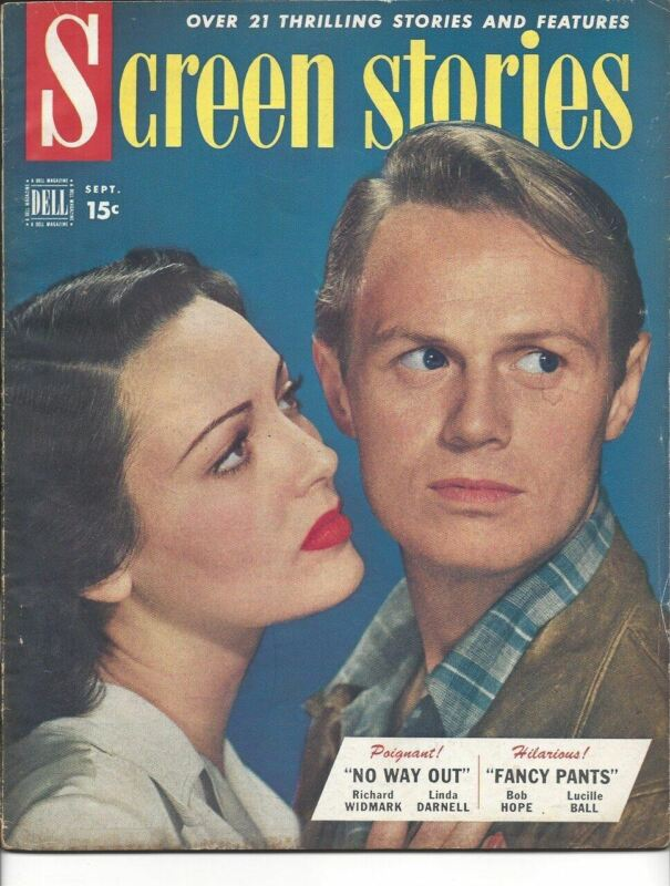 Screen Stories - Richard Widmark and Linda Darnell - September 1950