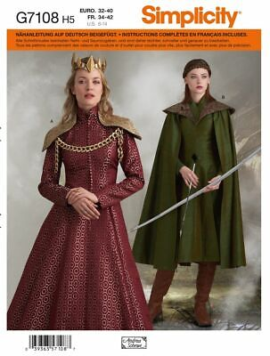 Schnittmuster Simplicity Nr. 7108 Historisches Damenkostüm - Schnitt Kostüm