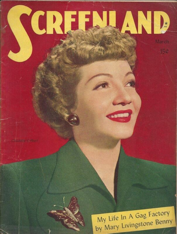 Screenland - Claudette Colbert - March 1945