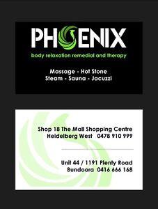 Phoenix massage North Melbourne Melbourne City Preview